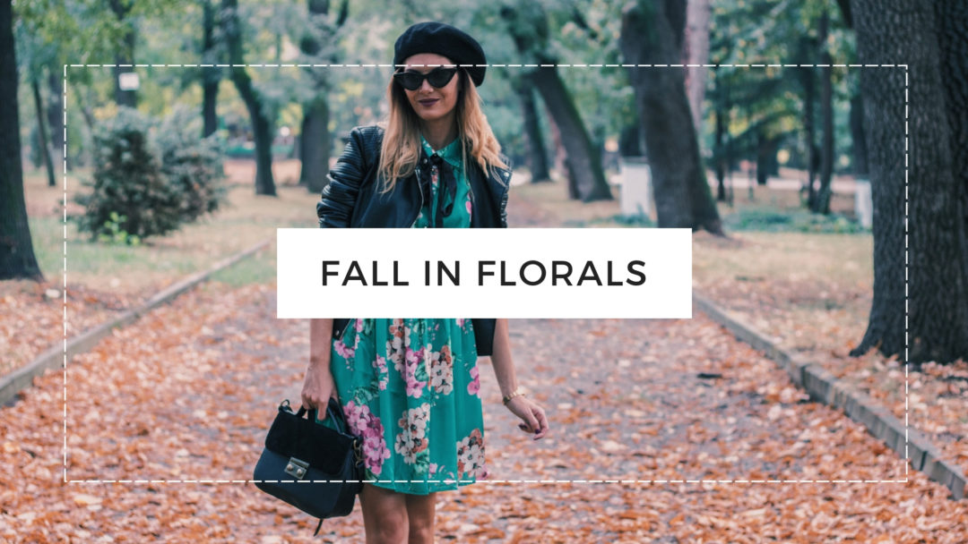 Floral Dress Autumn Outfit